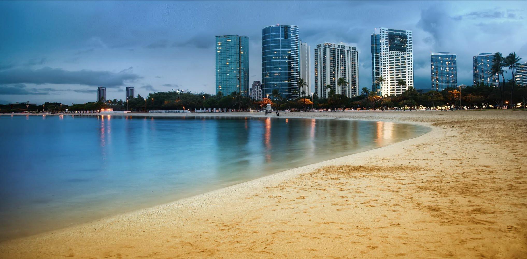 City, beach,