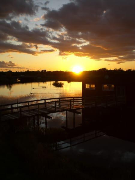 Klapphuset Kalmar hav ängö sunset solnedgång Sweden Sea