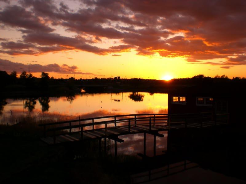 Klapphuset kattrumpan ängö hav kväll sunset Sweden