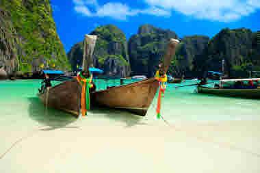 Thailand, Phuket, boat, beach, Asia